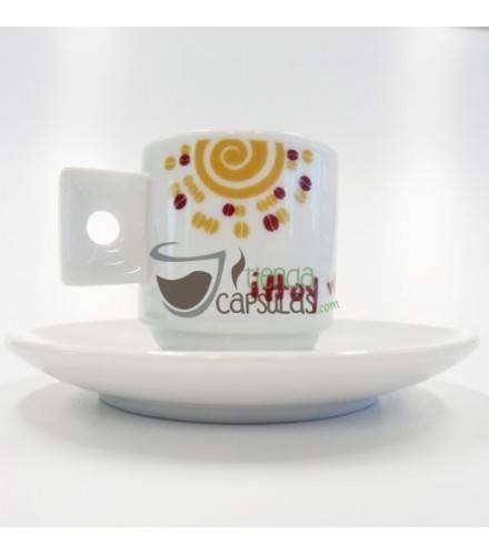 Taza y Plato frases para café