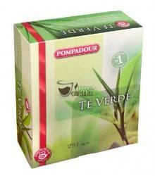 Pompadour® Té Verde - 100 bolsitas