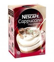 Café soluble Nescafé® - Cappuccino Descafeinado - 10 sobres