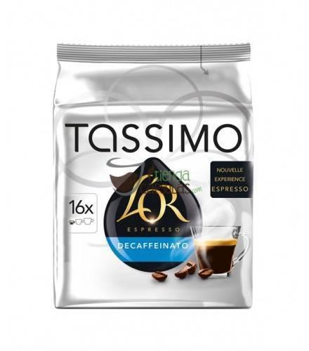 Cápsulas Tassimo L'Or - Espresso Descafeinado - 16 unidades