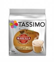Cápsulas Tassimo Marcilla - Café con Leche - 16 unidades