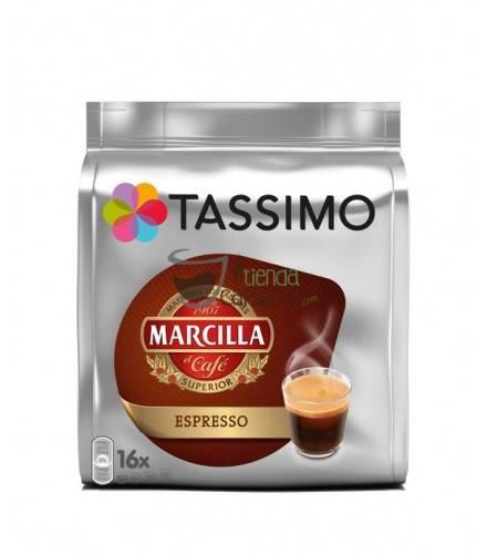 Cápsulas Tassimo Marcilla - Espresso - 16 unidades