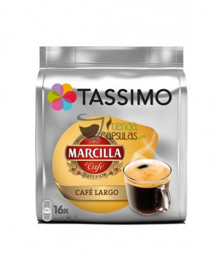 Cápsulas Tassimo Marcilla - Café Largo - 16 unidades