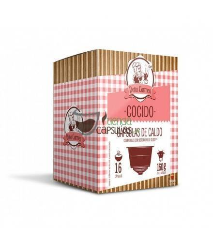 Cápsulas Dolce Gusto®** Origen & Sensations - Caldo Doña Carmen COCIDO - 16 unidades