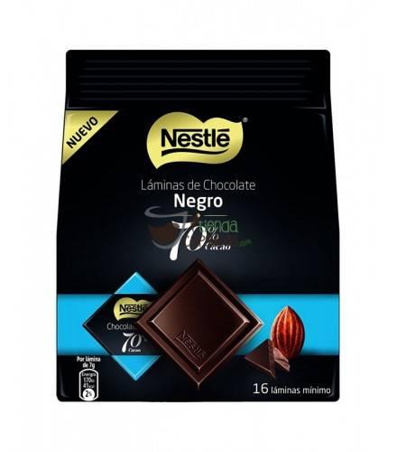 Láminas de Chocolate Nestle - Negro 70 % cacao - 16 unidades