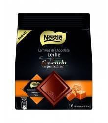 Láminas de Chocolate Nestlé - Leche con Caramelo - 16 unidades