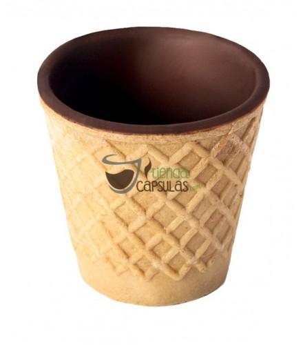 Galletas Chocup® mini - Vasito Barquillo / Chocolate - Caja 20 unidades