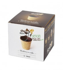 Galletas Chocup® medium 60 ml - Vasito Barquillo / Chocolate - Caja 12 unidades