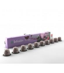 Cápsulas Nespresso®* Cabú Coffee - Tisana Frutas del Bosque - 10 unidades