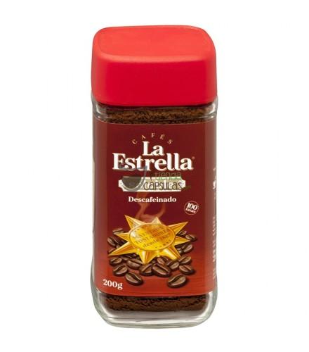 Café soluble Descafeinado La Estrella® - 100 tazas - Bote 200g