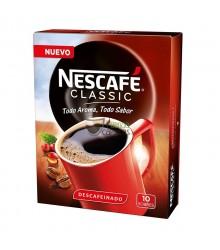 Café soluble Nescafé® - Classic Descafeinado Instantáneo - 10 sobres