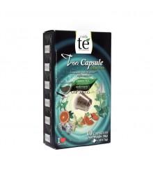 Cápsulas Nespresso®* Cuidaté - Té verde mediterráneo - 10 unidades