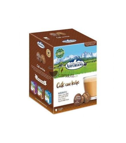 Cápsulas Dolce Gusto®** Central Lechera Asturiana - Café con leche - 16 unidades