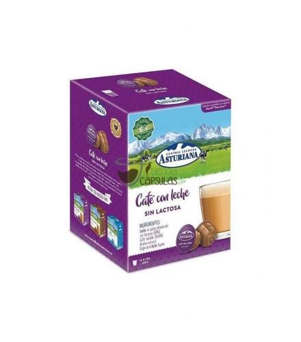 Cápsulas Dolce Gusto®** Central Lechera Asturiana - Café con leche Sin Lactosa - 16 unidades