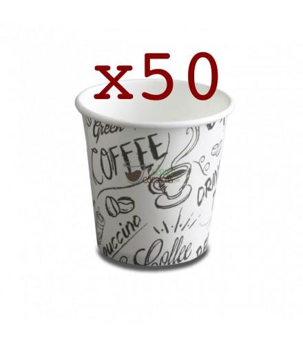 Vasos de cartón para café 120cc/50 unidades