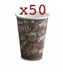 Vasos de cartón Nupik - Café 180cc - 50 unidades