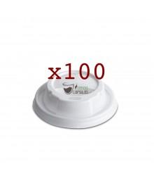 Tapas para Vaso de cartón Nupik - Café 180cc - 100 unidades