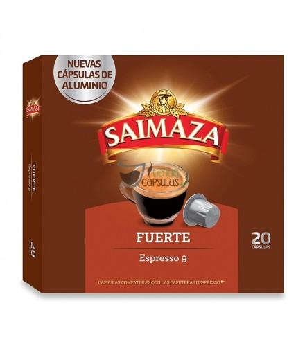 Cápsulas Nespresso®* Saimaza - Espresso 9 Fuerte - 20 unidades