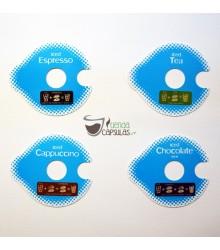 4 Ice T DISC para Bebidas frías en Tassimo (Espresso, Té, Chocolate y Cappuccino)