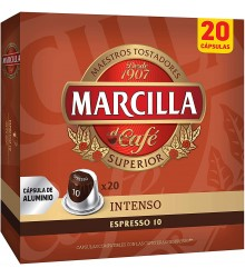 Cápsulas Nespresso®* Marcilla - 10 Intenso - 20 unidades