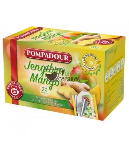 Infusión bolsitas Pompadour® - Jengibre con Mango - 20 unidades