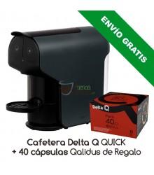 Cafetera Delta® Q QUICK + 40 cápsulas Qalidus de Regalo (Envío Gratis)