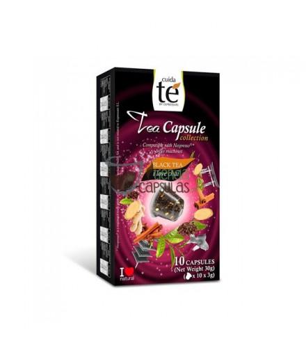 Cápsulas Nespresso®* Cuidaté - Té negro Chai - 10 unidades