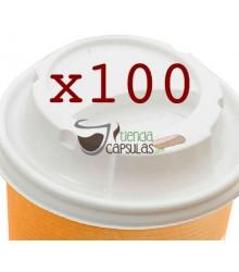 Tapas para Vaso de cartón Nupik - Café 120cc - 100 unidades