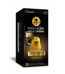 Cápsulas Nespresso®* Origen & Sensations - Pura Aluminio - Intenso - 20 unidades