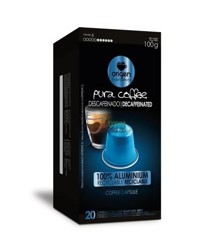 Cápsulas Nespresso®* Origen & Sensations - Pura Aluminio - Descafeinado - 20 unidades