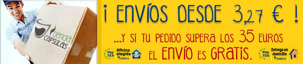 Envíos desde 3,27 Euros - y si tu pedido supera los 35 Euros, el ENVÍO es GRATIS (* 35 € Península, 50 € Baleares, Ceuta y Melilla, 70 € Canarias)